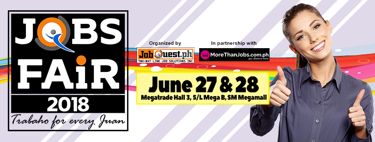 Megamall Jobfair (Jobs For Every Juan)  – June 27-28, 2018 (JobQuest)