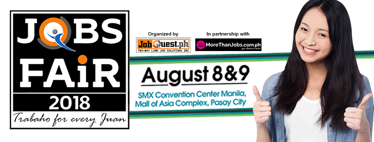 SMX Jobfair (Jobs For Every Juan) – August 8 & 9, 2018 (JobQuest)