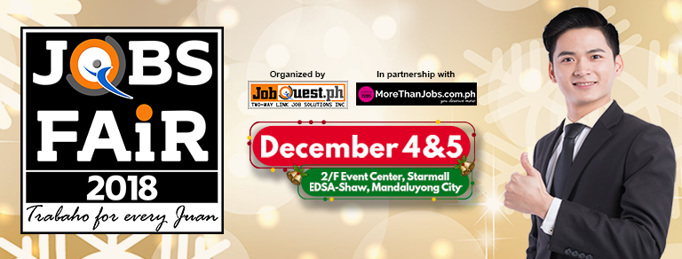 Starmall Shaw Boulevard Jobfair – December 4 & 5, 2018 (JobQuest)