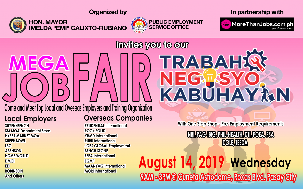 All Systems Go for Pasay City Mega Job Fair