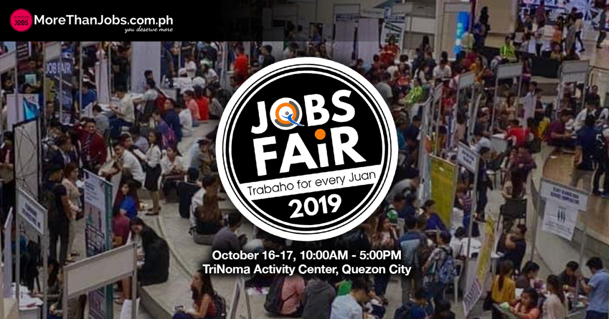 JobQuest PH and MoreThanJobs PH Mounts Jobs Fair 2019 in Trinoma Anew