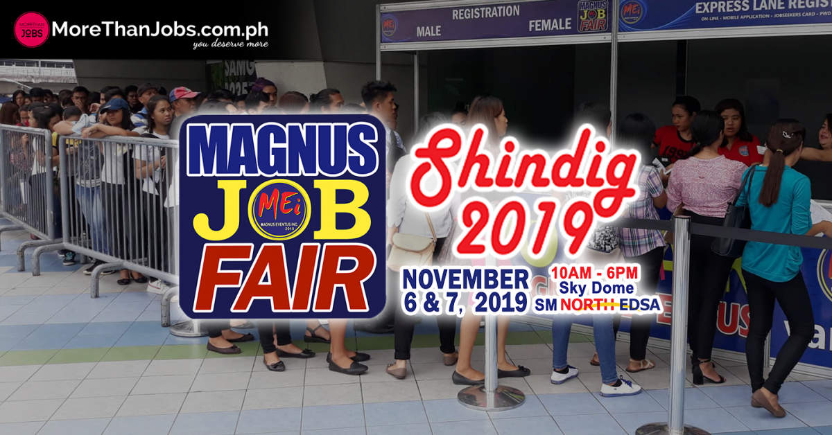 Magnus Job Fair: Shindig Rocks SM North EDSA SkyDome
