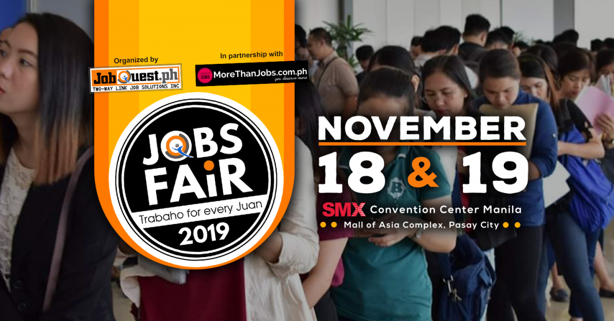 SMX Convention Center Hosts Jobs Fair 2019: Trabaho for Every Juan