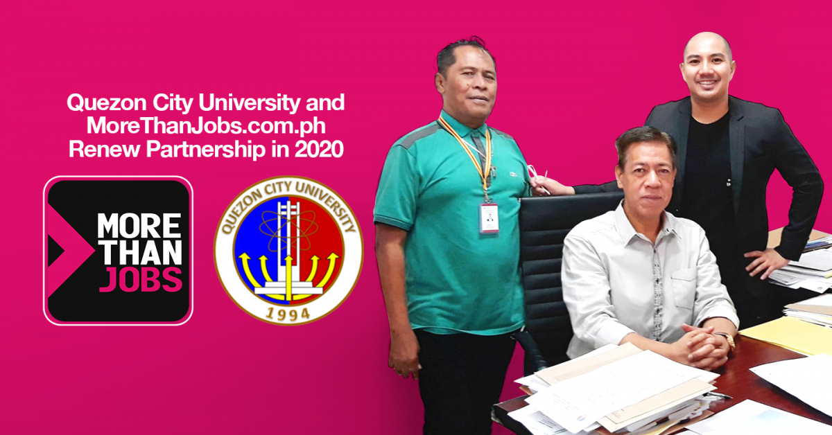 Quezon City University and MoreThanJobs.com.ph Renew Partnership in 2020