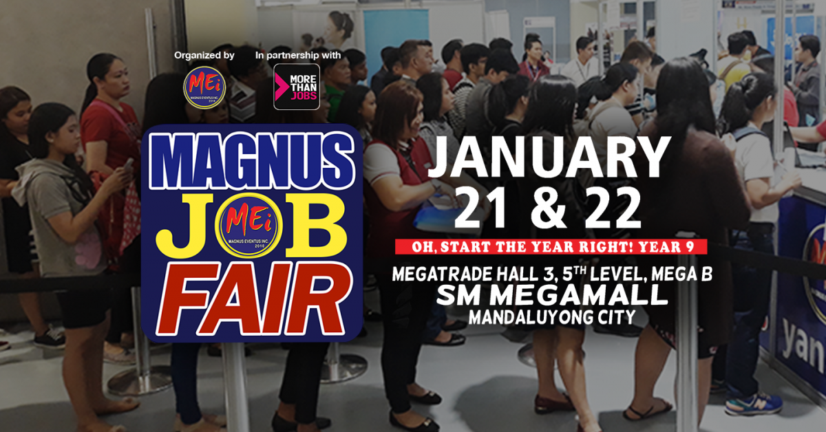 MoreThanJobs.com.ph and Magnus Eventus Inc., Team Up for Magnus Job Fair 2020